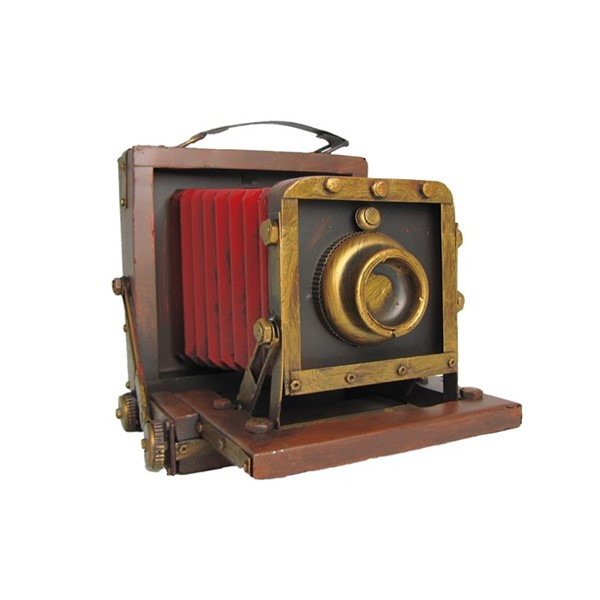 Old School Accordion Camera Decoration