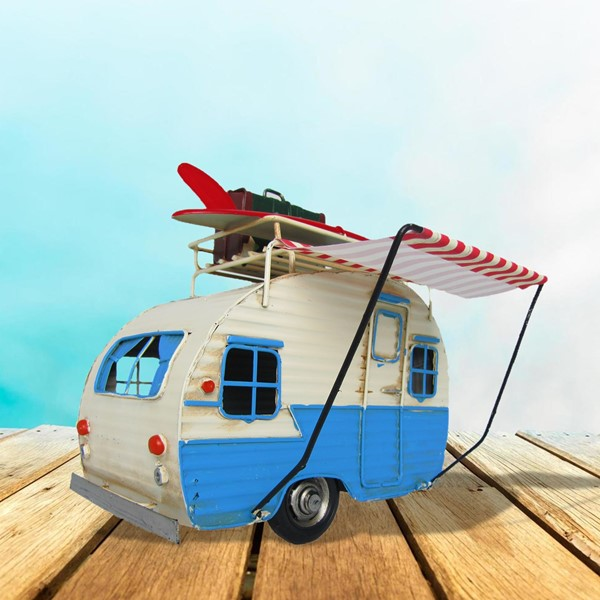 California Camper with Surfboard Decoration