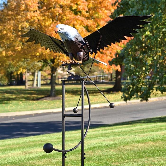 Large Flying Eagle Iron Rocking Stake Quot Aquila Quot